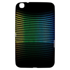 Abstract Multicolor Rainbows Circles Samsung Galaxy Tab 3 (8 ) T3100 Hardshell Case