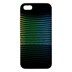 Abstract Multicolor Rainbows Circles iPhone 5S/ SE Premium Hardshell Case