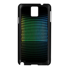 Abstract Multicolor Rainbows Circles Samsung Galaxy Note 3 N9005 Case (Black)
