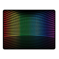 Abstract Multicolor Rainbows Circles Double Sided Fleece Blanket (Small)
