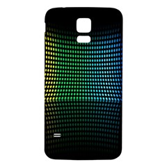 Abstract Multicolor Rainbows Circles Samsung Galaxy S5 Back Case (White)