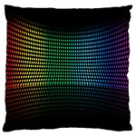 Abstract Multicolor Rainbows Circles Standard Flano Cushion Case (Two Sides) Back