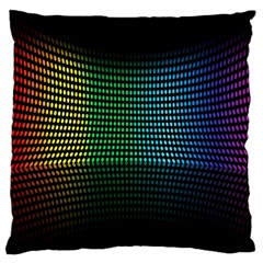 Abstract Multicolor Rainbows Circles Large Flano Cushion Case (two Sides)