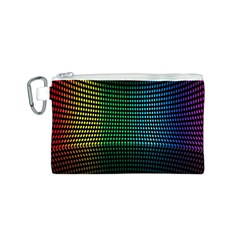 Abstract Multicolor Rainbows Circles Canvas Cosmetic Bag (S)