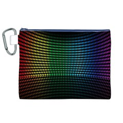 Abstract Multicolor Rainbows Circles Canvas Cosmetic Bag (XL)