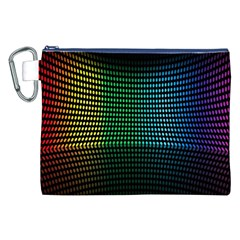 Abstract Multicolor Rainbows Circles Canvas Cosmetic Bag (xxl)