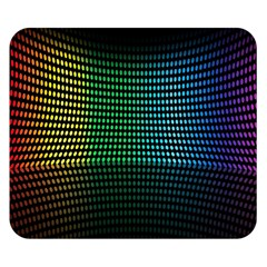 Abstract Multicolor Rainbows Circles Double Sided Flano Blanket (small)