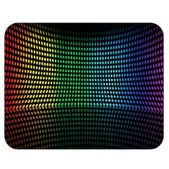 Abstract Multicolor Rainbows Circles Double Sided Flano Blanket (Medium)