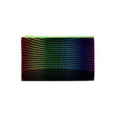 Abstract Multicolor Rainbows Circles Cosmetic Bag (XS)