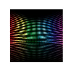 Abstract Multicolor Rainbows Circles Small Satin Scarf (square)
