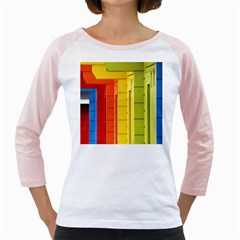 Abstract Minimalism Architecture Girly Raglans
