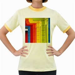Abstract Minimalism Architecture Women s Fitted Ringer T Shirts