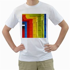 Abstract Minimalism Architecture Men s T Shirt (white) (two Sided)