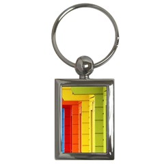 Abstract Minimalism Architecture Key Chains (rectangle)