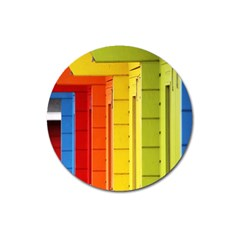 Abstract Minimalism Architecture Magnet 3  (Round)