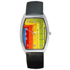 Abstract Minimalism Architecture Barrel Style Metal Watch