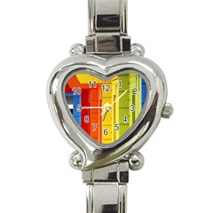 Abstract Minimalism Architecture Heart Italian Charm Watch