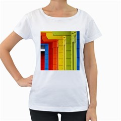 Abstract Minimalism Architecture Women s Loose-Fit T-Shirt (White)