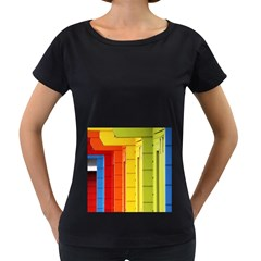 Abstract Minimalism Architecture Women s Loose Fit T Shirt (black)