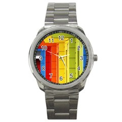Abstract Minimalism Architecture Sport Metal Watch