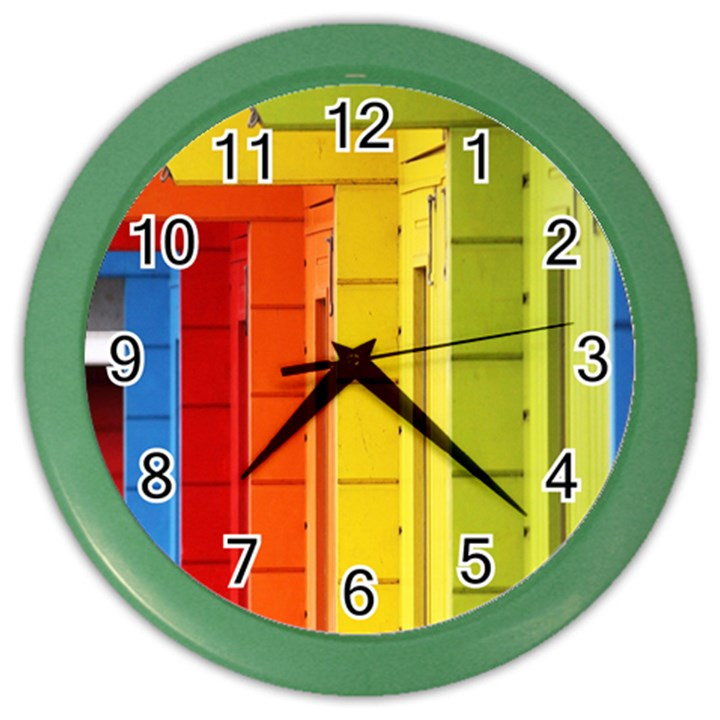 Abstract Minimalism Architecture Color Wall Clocks