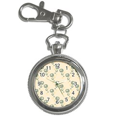 Flower Floral Pink Key Chain Watches