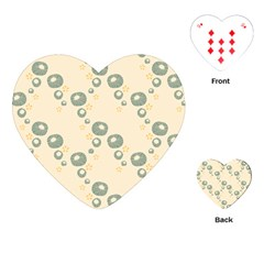 Flower Floral Pink Playing Cards (heart)