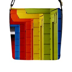 Abstract Minimalism Architecture Flap Messenger Bag (l)