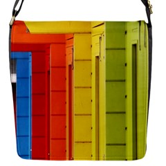 Abstract Minimalism Architecture Flap Messenger Bag (S)
