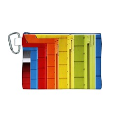Abstract Minimalism Architecture Canvas Cosmetic Bag (m)