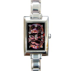 Hamburgers Digital Art Colorful Rectangle Italian Charm Watch
