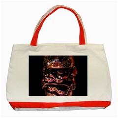 Hamburgers Digital Art Colorful Classic Tote Bag (Red)