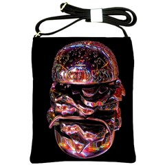 Hamburgers Digital Art Colorful Shoulder Sling Bags
