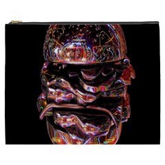 Hamburgers Digital Art Colorful Cosmetic Bag (XXXL)