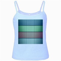 Lines Stripes Texture Colorful Baby Blue Spaghetti Tank