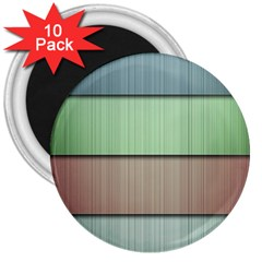 Lines Stripes Texture Colorful 3  Magnets (10 pack)