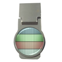 Lines Stripes Texture Colorful Money Clips (round)