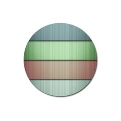 Lines Stripes Texture Colorful Magnet 3  (Round)