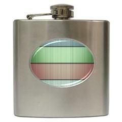 Lines Stripes Texture Colorful Hip Flask (6 Oz)