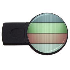 Lines Stripes Texture Colorful Usb Flash Drive Round (4 Gb)