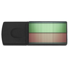 Lines Stripes Texture Colorful USB Flash Drive Rectangular (4 GB)