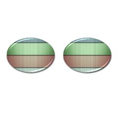 Lines Stripes Texture Colorful Cufflinks (oval)