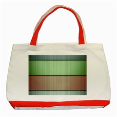 Lines Stripes Texture Colorful Classic Tote Bag (Red)