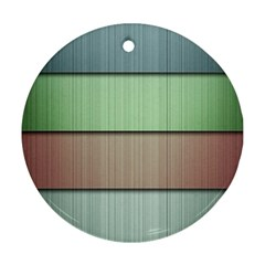 Lines Stripes Texture Colorful Round Ornament (two Sides)