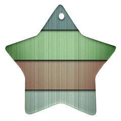 Lines Stripes Texture Colorful Star Ornament (two Sides)