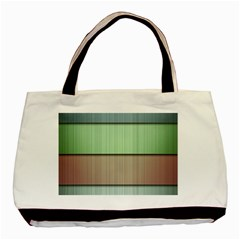 Lines Stripes Texture Colorful Basic Tote Bag (two Sides)
