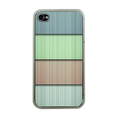 Lines Stripes Texture Colorful Apple iPhone 4 Case (Clear)