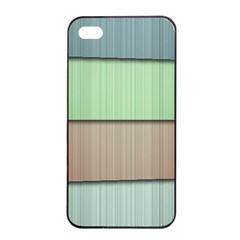 Lines Stripes Texture Colorful Apple iPhone 4/4s Seamless Case (Black)