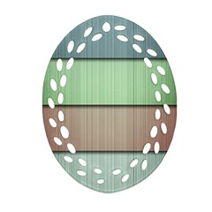 Lines Stripes Texture Colorful Ornament (Oval Filigree)
