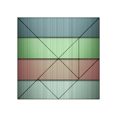 Lines Stripes Texture Colorful Acrylic Tangram Puzzle (4  x 4 )